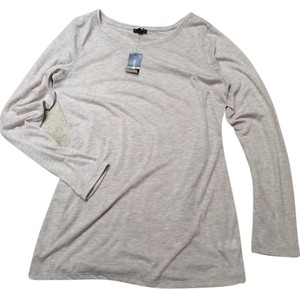Express Heather Taupe Tunic T Shirt Heather sand