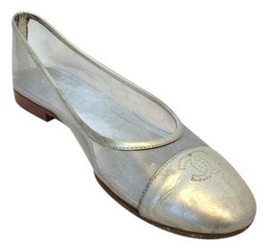 Chanel Ballet Flat Silver/Clear Flats