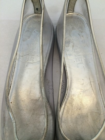 Chanel Ballet Silver/Clear Flats