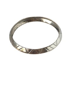 House of Harlow 1960 House of Harlow 1960 Silver Aztec Stack Bangle Bracelet