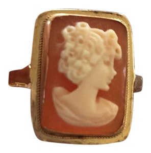 Italian ring Italian Cameo ring in 14k gold