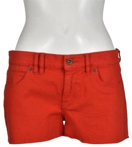 Madewell Cut Off Shorts Red