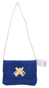 deux lux Crossbody Blue Cobalt Leather Small Party Saks Saks 5th Avenue Saks On 5th Cobalt Blue Clutch
