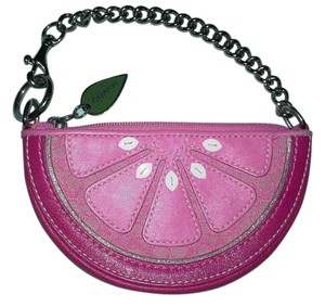 Coach Pink Grapefruit Coin Purse