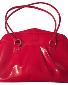 Baekaard Patent Leather Red Travel Bag