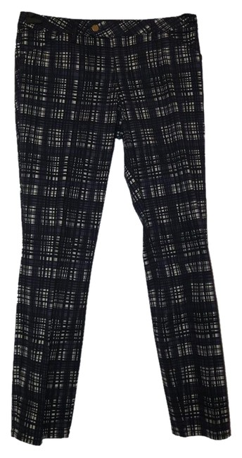 Item - Navy and White Plaid Print Conner Tab Pants Size 12 (L, 32, 33)