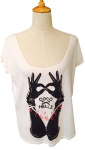 Hellz Bellz T Shirt White, Black And Red