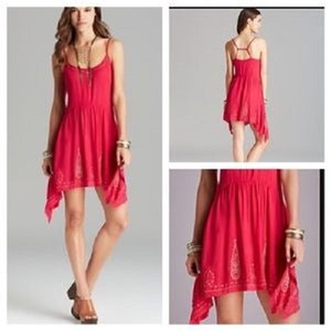 Free People short dress Tango Pink on Tradesy