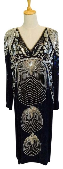 Preload https://item1.tradesy.com/images/black-and-silver-vintage-70s-to-80s-evening-night-out-dress-size-8-m-1702635-0-0.jpg?width=400&height=650