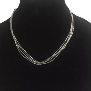Michael Kors Nwt Michael Kors Silver Tone Necklace With Pave Ball Stations 18