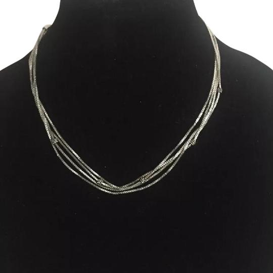 Michael Kors Nwt Michael Kors Silver Tone Necklace With Pave Ball Stations 18""