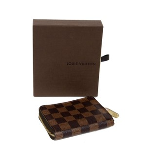 Louis Vuitton Louis Vuitton Damier Zippy Coin Unisex Leather Canvas Travel Wallet
