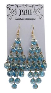 Other Light Blue Glass Dangly Fashion Earrings w Free Shipping