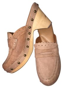 Lucky Brand Penny Loafers Platform Tan Mules