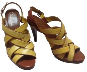 Cole Haan Sandal Yellow w/brown Platforms