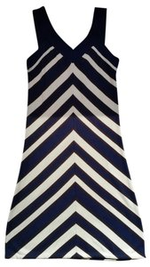 MILLY short dress White/Navy Blue on Tradesy