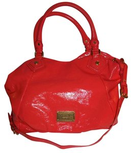 Marc by Marc Jacobs Patent Leather Red Hobo Satchel in Vibrant Red