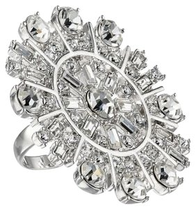 Kate Spade NEW! * K A T E | S P A D E * Glitter Garden Statement Ring Size 5 GORGEOUS! Floral Flower