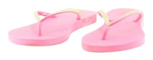 Victoria's Secret Flip Flops Vs Pink Gold Sandals