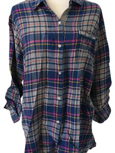 DKNY Flannel Button Down Shirt