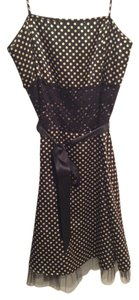 Finesse short dress Black and White Polka Dots on Tradesy