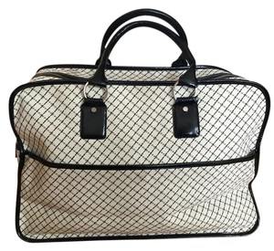 DKNY Black and Ivory Travel Bag