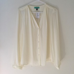 Windsor Windosr White Flowy Top Ivory