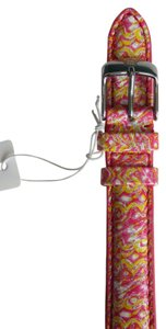 Michele Nwt Michele Multicolored Yellow Pink White Leather Watch Band
