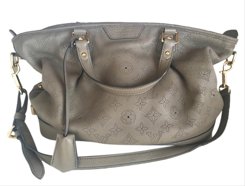Louis Vuitton Mahina Stellar Powder Pm Handbag Gray  Taupe Leather ... e55e4c50143c8