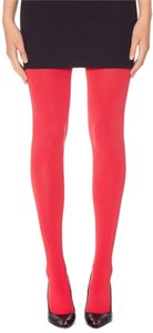The Limited Opaque Stretch Tights Red Leggings