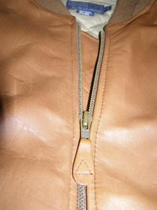 Ralph Lauren Rare Lambskin Leather Tan Leather Jacket