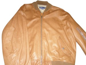 Ralph Lauren Rare Lambskin Leather Pristine Internally Quilted Camel Color Tan Leather Jacket