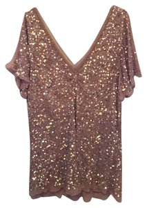 Adrianna Papell Top Gold Sequined