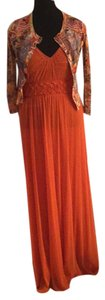 Orange and multi color print Maxi Dress by Jean Paul Gauliter