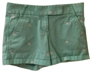 J.Crew Mini/Short Shorts Turquoise/ faded green