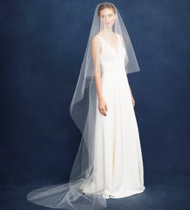 BHLDN Ivory Long Twigs and Honey For J.crew Cathedral C4062 Bridal Veil