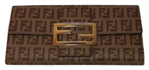 Fendi FENDI LEATHER WALLET SIGNATURE FENDI P. FOGLIO FOREVER ZUCCHIN