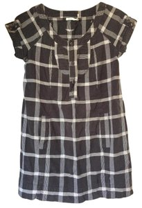 Kimchi Blue short dress Navy and white check on Tradesy