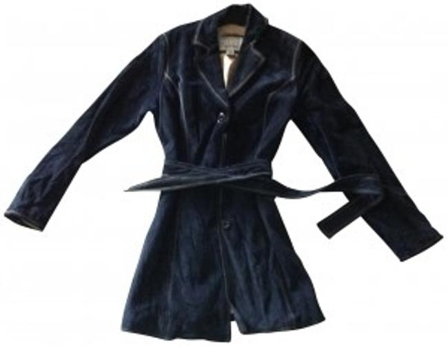 Wilsons Leather Suede Belted Trench Coat