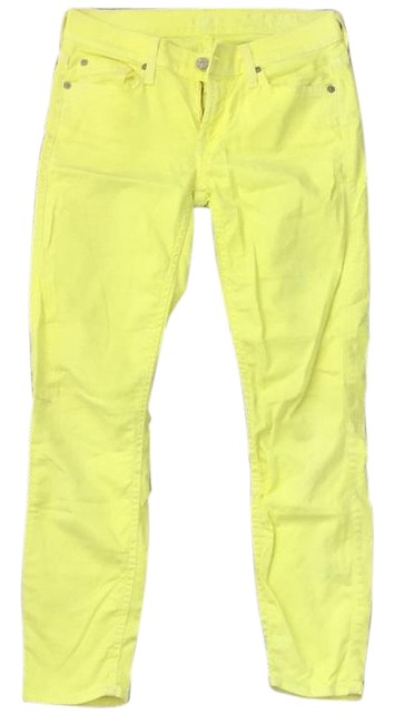 Item - Bright Yellow Green Skinny Capri/Cropped Jeans Size 28 (4, S)