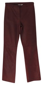 A|X Armani Exchange Leather Jeans Straight Pants dark red