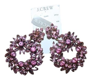 J.Crew J.CREW CRYSTAL WREATH EARRINGS PINK E8912