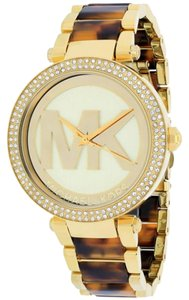 Michael Kors Nwt Michael Kors women's Parker tortoise acetate and gold tone bracelet watch mk6109