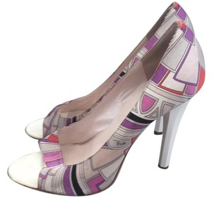 Emilio Pucci Multi white Pumps