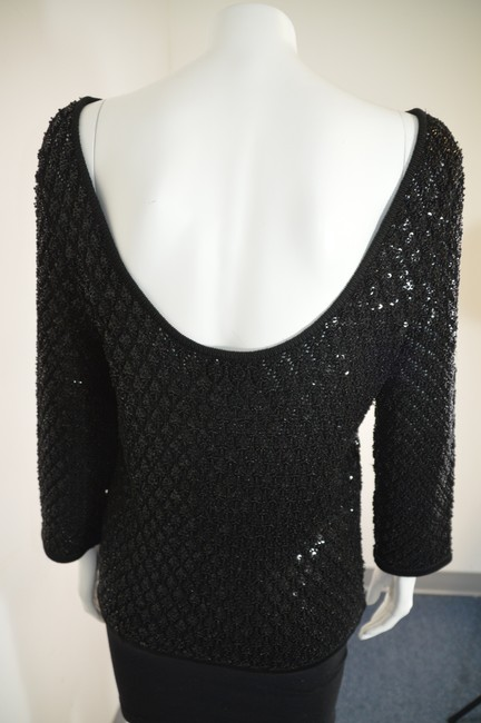 Carmen Marc Valvo Top Black