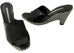 Donald J. Pliner Black & White Wedges