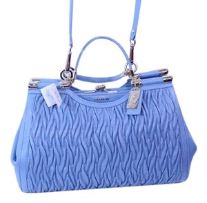 Coach New With Tag Satchel in Light Gold/Cornflower