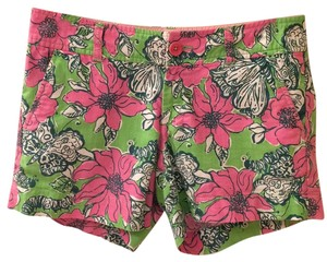 Lilly Pulitzer Mini/Short Shorts Green, pink, & white
