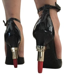 ALBERTO GUARDIANI Black and Red Pumps