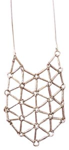 Modcloth Cool looking gold tone geometric design necklace